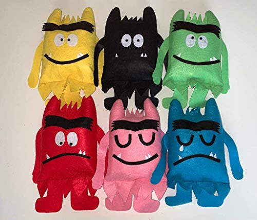 """Muñecos """"El Monstruo de colores"""". Peluches."""