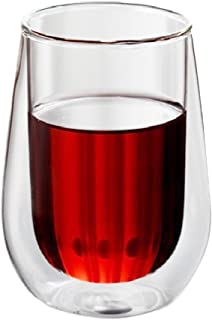 FLAMEER Mehrfunktional Doppelwandige Glas Thermoglas Kaffeeglas Trinkglas f/ür Latte Macchiato 200 ml