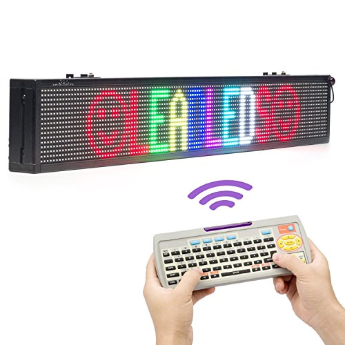Leadleds 40 Inches Multi-Color Message Display Board by Remote Programmable, Great for Home, Office, Store, Window (Text, Symbol, Animation Supported)