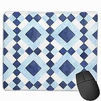 チェッカーボードの幾何学模様 マウスパッド ノンスリップ 防水 高級感 習慣 パターン印刷 ゲーミング ホビー 事務 おしゃれ 学習