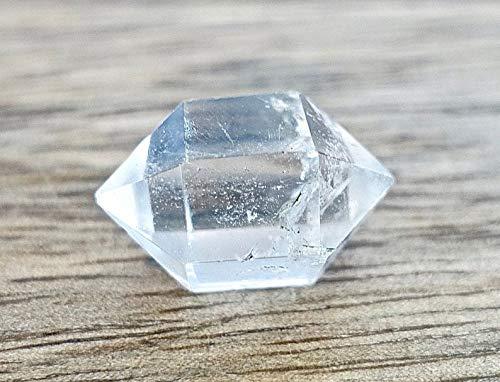 Galactikonsciousness Herkimer Diamond Clear Crystal Quartz Gemstone Double Point Wand Healing Reiki Energy Handmade Decoration Meditation Yoga Chakra Collection