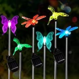 Solar Garden Lights Outdoor, 6-pack OxyLED...