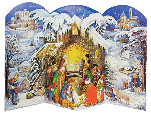 Winter Nativity Scene German Advent Calendar