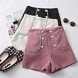 Immagine 2 vita tweed shorts donne casual