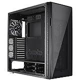 Aerocool QUARTZPRO - Caja gaming para PC (torre, ATX, panel frontal y lateral de vidrio templado, 4 modos de color incluye 3 ventiladores frontales RGB 12 cm, USB 2.0/USB 3.0), color negro