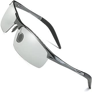 Men's Photochromic Polarized UV400 Sunglasses for Outdoor Fishing Golf Beach Baseball Sports