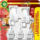 Air Wick Holiday Scented Oil Kit, Warm Apple Crumble, (2 Warmers + 5 Refills)