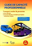 Guide de capacité professionnelle 2014 - Transport routier de personnes