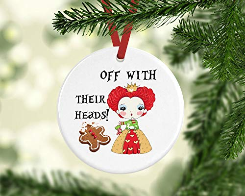 Xmas Ornament 2020 Christmas Claus Cartoon Villain Queen of Hearts Alice in Wonderland Kids 2020 Xmas Hanging Accessories