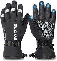 Fietshandschoenen, skihandschoenen, winter, warm, touchscreen, winddicht, waterdichte handschoenen voor heren en dames,...