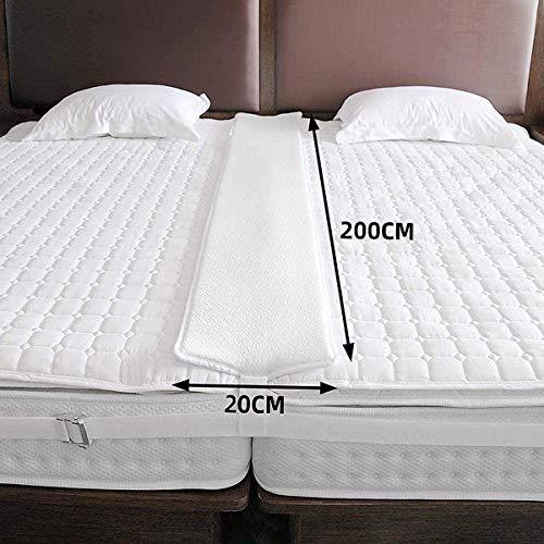 Vivilineneu Bettbrücke Twin-to-King-Konverter Memory Foam Gap Filler Pad und breiter Verstellbarer Kit-Matratze Extender-Verbindungsriemen für das Schlafzimmer zu Hause