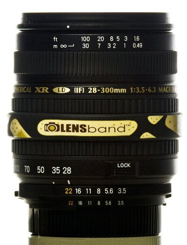 Lens Band Stop Zoom Creep for Zoom Lenses - Band Aid with Black Band