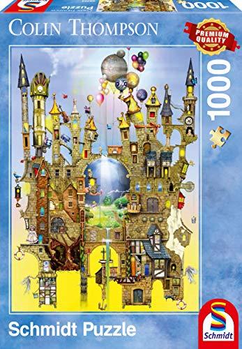 Schmidt Spiele 59354 - Colin Thompson, Luftschloss, 1.000 Teile, Klassische Puzzle