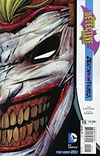 Batman Detective Comics #15 With Die-Cut Joker Mask Cover 2013 New 52 Death of the Family