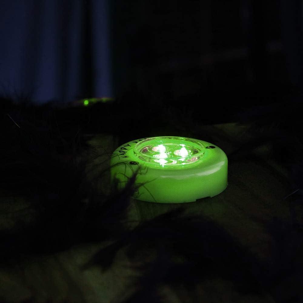 cucchiaio stencil e luce a LED coltello verde con LED penna COM-FOUR/® Set da 14 pezzi per intagliare la zucca per Halloween Strumenti da taglio per svuotare le zucche
