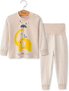 6-12 Month Webla Toddler nfant Baby Boys Girls Cartoon Giraffes Print T-Shirt Tops+Short Pants 2Pcs Home Pajama Outfits Set for 1-3 Years