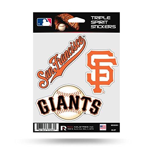 Rico MLB Giants - Sf Triple Spirit Stickers, Multi, One Size (MSS6301)