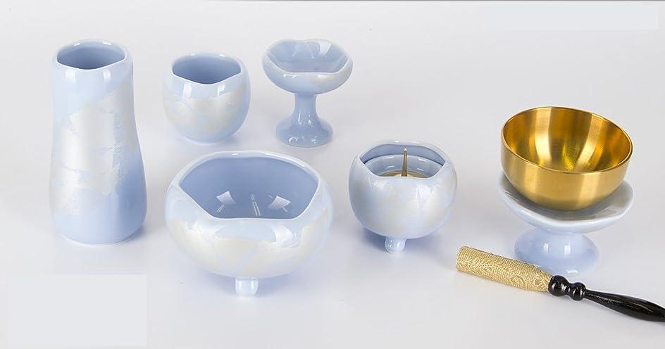 コテージしかしインストール陶器 まるか シンパープル 5点セット  3.0寸+専用リンセット 2.3寸