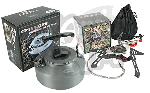 NGT Camping And Sea Carp Fishing Portable Stove Gas Stove 3000W & 1.1L Kettle