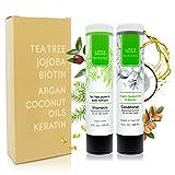 Life Is Restored | Tea Tree, Biotin, Jojoba, Argan, Coconut Oils & Keratin Infusions | Professional Shampoo and Conditioner System