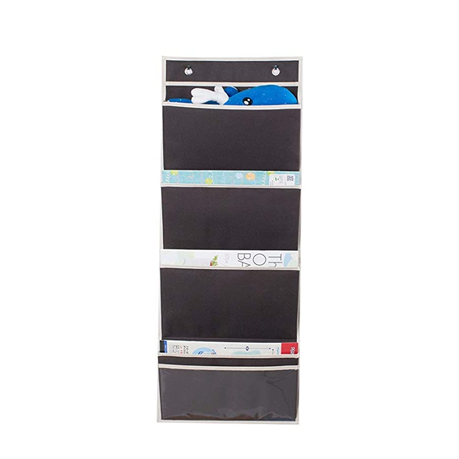 いくつかの船尾不足KTH 多機能オックスフォード布ファイルハンギングバッグ、ドアの後ろに化粧品収納袋、日用品必需品収納袋 (Color : ブラウン)