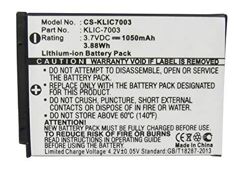 Amsahr - Batería de Repuesto para cámara y videocámara Kodak KLIC7003, EasyShare...