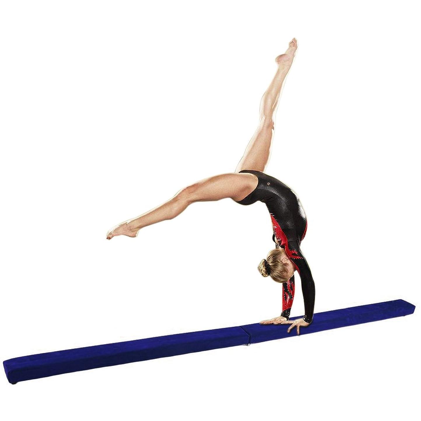 干し草ハロウィンハントFolding体操トレーニングバランスビームforホームジムトレーニング練習スポーツ