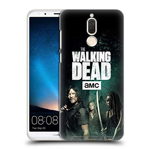 Offizielle AMC The Walking Dead Daryl, Carol & Michonne Staffel 9 Zitate Harte Rueckseiten Huelle kompatibel mit Huawei Mate 10 Lite