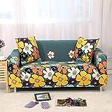 ASCV Funda de sofá elástica Estampada geométrica elástica para Sala de Estar Funda seccional Protector de Muebles de sofá A5 1 Plaza