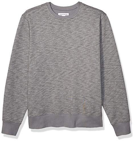 Amazon Essentials Men's Long-Sleeve Crewneck Fleece Sweatshirt, Light Grey Space-Dye XX-Large