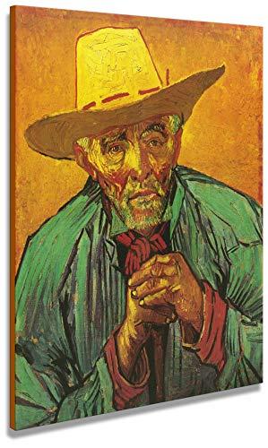 Artenòr Gemälde Van Gogh Der Bauer (Porträt von Patience Escalier) 1888 – Kunstdruck auf Leinwand, 60 x 73 cm