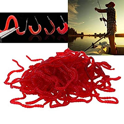 Broadroot Fishing Lure Silicone Smell Red Artificial Worm Iscas Artificiais Soft Bait Carp Lures from Broadroot