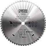 HM Lame de scie circulaire pour bois 400 x 30 mm avec 60 dents pour découper le bois de construction, le bois de chauffage et la...