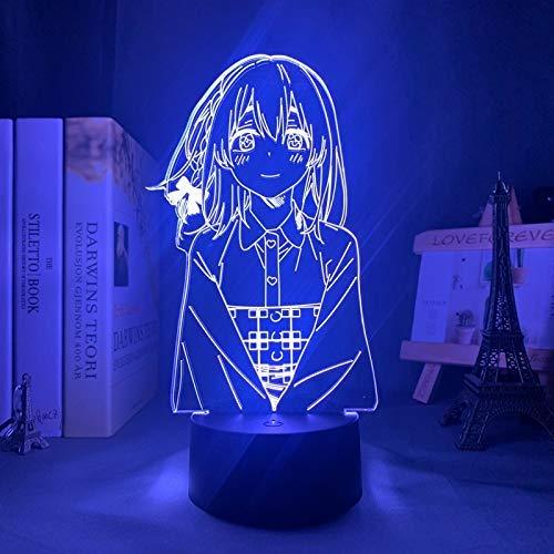 Kanojo Okarishimasu Sumi Sakurasawa llevó la luz de la noche para el dormitorio decoración regalo noche anime waifu 3D lámpara suma rent a novia