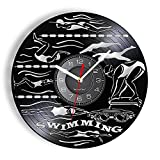 Nfjrrm Entrenamiento de natación Reloj de Pared Vintage Buceo...