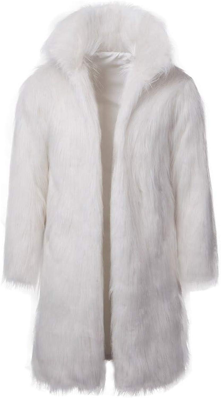 Alimao Fashion Men`s Winter Warm Thick Coat Overout Jacket Faux Fur Parka Outwear Cardigan