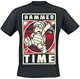 Super Mario Camiseta Hombre Hammertime Hammer Brother Nintendo Cotton Black - XXL