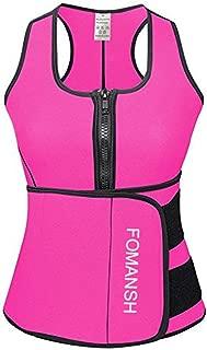 FOMANSH Sauna Waist Trainer Corset Vest Women Shapewear Tummy Control Body Slimmer for Weight Loss Black