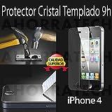 Protector pantalla Compatible con IPHONE 4 4s Cristal Templado
