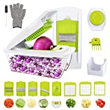 Vegetable Chopper, WOKOKO Food Chopper Cutter Onion Slicer Dicer Veggie Slicer Manual Mandoline for Garlic, Carrot, Potato, Tomato, Fruit, Salad