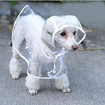 KoKoBin Manteau imperméable pour chiens de petite taille et chats, avec capuche, réglable, en PVC, transparent, et ultra-léger