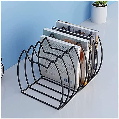 WSND Book Rack Metal 7 Slots Sorter Desk Topics In a popularity on TV Bookshelf File Desktop