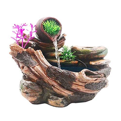 zxb-shop Fuente de Escritorio Fuente Creativa de Escritorio Decoración de Cascada Interior y Bomba de Agua La Fuente Interior Puede Plantar Flores y Plantas Fuente de Interior
