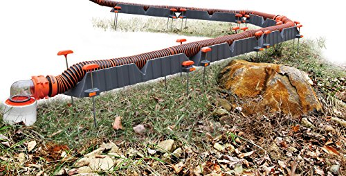 Camco Adjustable Sewer Hose Drain Support Kit -Rigid Support Cradles, 4 Point Adjustment Works Over Uneven Terrain For Increased Drainage, Adapts to a 10ft, 15ft or 20ft Sewer Hose Kit (43071)