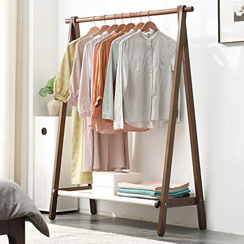 Perchero de pie 150 cm de alta ropa de secado de ropa simple, perchero para el hogar hecho de madera de haya, colgador de pintura plegable y respetuoso con el medio ambiente, colgador de dormitorio mo