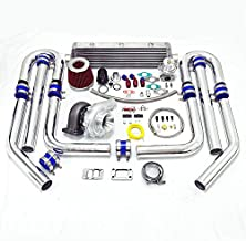 Universal High Performance Upgrade T70 11pc Turbo Kit (Silver Intercooler/Silver Pipping)