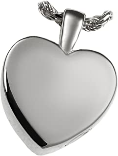 Memorial Gallery MG-3146gp Classic Heart 14K Gold/Sterling Silver Plating Cremation Pet Jewelry