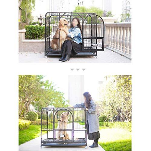 ペットケージドッグケージゴールデンレトリバーサモエドサイドドッグラブラドールレトリバー屋内犬ケージ大型折りたたみ式シェルランニングケージ