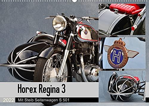 Horex Regina 3 mit Steib Seitenwagen S 501 (Wandkalender 2022 DIN A2 quer)