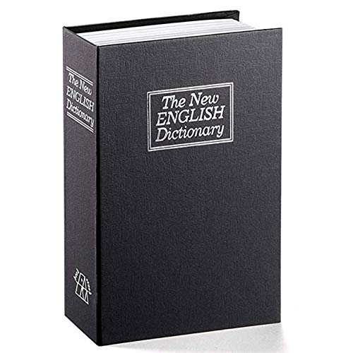 CNmuca Caixa de Troca Criativa Dicionário Livro Caixa de Seguros Livro de Simulação Criativa Europeia Mini Tanque de Armazenamento Seguro Preto
